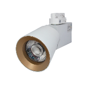 Spot LED sur Rail 12W 38° Monophasé Dimmable BLANC DORE