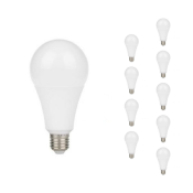 Ampoule LED E27 18W A80 220V 230° (Pack de 10)